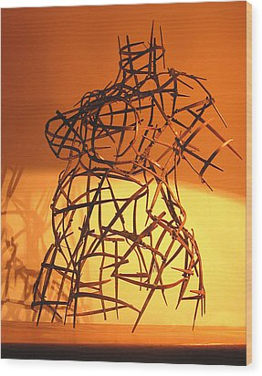Welded Torso Wood Print by Tommy  Urbans