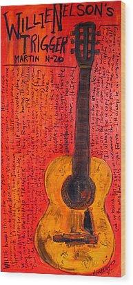 Willie Nelson's Trigger Wood Print by Karl Haglund