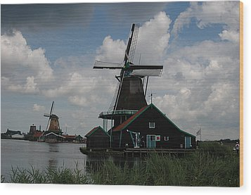 Wood Print featuring the photograph Windmill 3 by Vilas Malankar