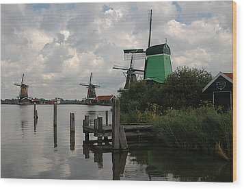 Wood Print featuring the photograph Windmills 2 by Vilas Malankar