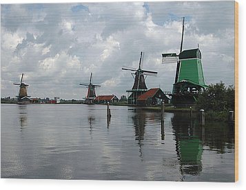 Wood Print featuring the photograph Windmills by Vilas Malankar