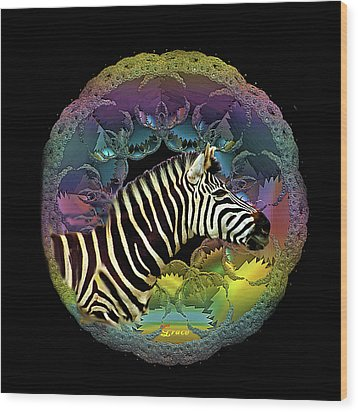 Zebra Wood Print by Julie Grace