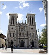 Cathedral Of San Fernando Acrylic Print by Karen Cowled