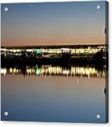 Twilight At Anchorage International Airport Acrylic Print by Tim Grams