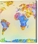 Abstract Earth Map 2 Acrylic Print