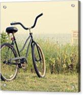 Bicycle On Beach Summer's On The Coast Acrylic Print