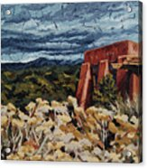 Echoes Of Tularosa, Museum Hill, Santa Fe, Nm Acrylic Print by Erin Fickert-Rowland