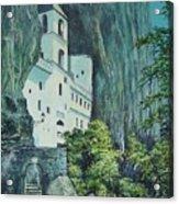 Monastery Ostrog Montenegro Acrylic Print