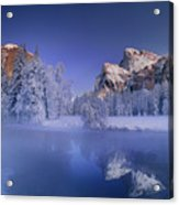 Moonrise Over Gates Of The Valley Yosemite National Park Acrylic Print