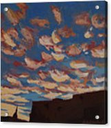 Sunset Clouds Over Santa Fe Acrylic Print by Erin Fickert-Rowland