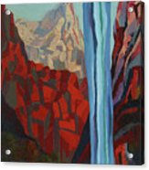 Through The Narrows, Zion Acrylic Print by Erin Fickert-Rowland