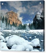 Winter Storm In Yosemite National Park Acrylic Print