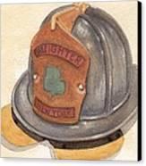 Proud To Be Irish Fire Helmet Canvas Print