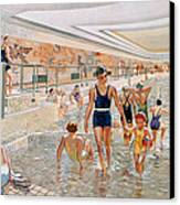 View Of The First Class Swimming Pool Canvas Print