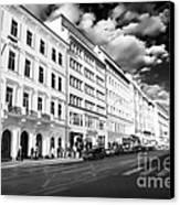 White Buildings In Prague Canvas Print by John Rizzuto