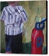 Little Golfer Canvas Print by David Poyant