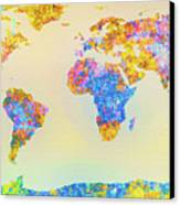 Abstract Earth Map 2 Canvas Print