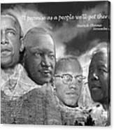 Black Rushmore Grayscale Canvas Print