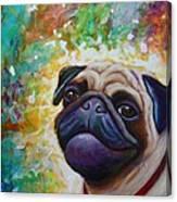 A Pugs World Canvas Print