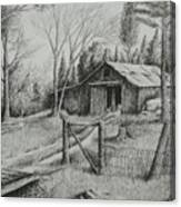 Ma's Barn And Truck Canvas Print