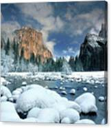 Winter Storm In Yosemite National Park Canvas Print