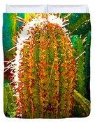 Backlit Cactus Duvet Cover