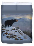 Last Look Black Bear Duvet Cover