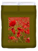 Red Poppies 4 Duvet Cover