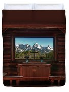 A Pew With A View Duvet Cover