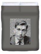 Bobby Fischer Chess Mosaic Duvet Cover by Paul Van Scott