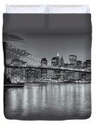 Brooklyn Bridge Twilight II Duvet Cover by Clarence Holmes
