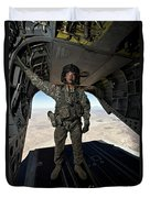 Ch-47 Chinook Crew Chief Stands Duvet Cover