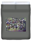 Chris Daniels And Friends Duvet Cover by Laurie Maves ART