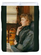 Far Away Thoughts Duvet Cover by Sir Lawrence Alma-Tadema