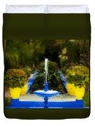 Fountain In Jardin Majorelle Morocco Duvet Cover