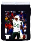Magical Darrelle Revis Duvet Cover by Paul Van Scott