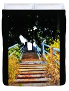 Manayunk Steps Duvet Cover by Bill Cannon