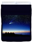 Mauna Kea Telescopes Duvet Cover by D Nunuk and Photo Researchers