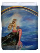 Mermaid Rainbow Wishes Duvet Cover