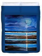 Midnight At The Beach Duvet Cover