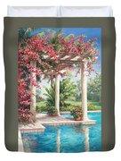 Poolside Garden Duvet Cover