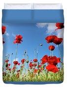 Poppies Season Duvet Cover
