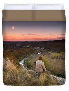 River And Moon Duvet Cover