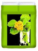 Rose In Vase Duvet Cover