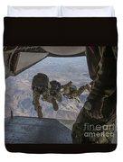 Sailors Jump Out Of A C2-a Greyhound Duvet Cover