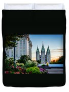 Slc Temple Js Building Duvet Cover