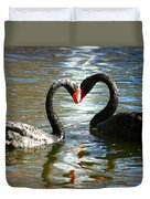 Swan Heart  Duvet Cover