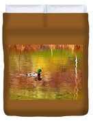 Swimming In Reflections Duvet Cover