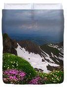 The Alps Wildflowers Duvet Cover
