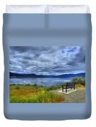 View From A Bench Duvet Cover
